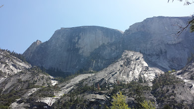 Photo: Front face of Half Dome, at Yosemite, Easter 2014