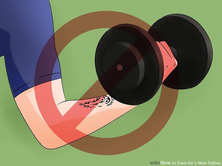 6. งดการออกกำลังกายหนักๆ จนกว่าแผลรอยสักหายสนิท