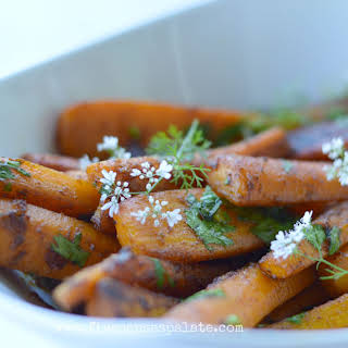 Pan Roasted Carrots with Cumin-Turmeric Butter.