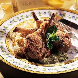 Lamb Chops with Mint Aïoli
