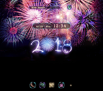 Fireworks Wallpaper Happy New Year 2018Theme - náhled