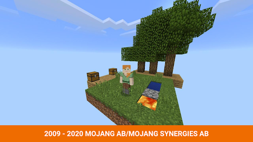 One block survival Minecraft maps. Map for MCPE 3.5 screenshots 2