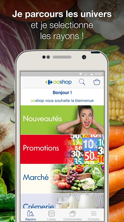 carrefour ooshop courses android apps on google play. Black Bedroom Furniture Sets. Home Design Ideas