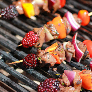 Build Your Own Venison Blackberry Kabobs