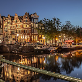 by Dennis Brunel - Uncategorized All Uncategorized ( #amsterdam #longexposure #reflection #building #canal #boats )