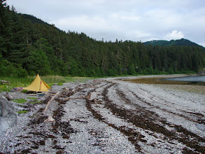 Photo: My campsite on the beach at Point Anmer.