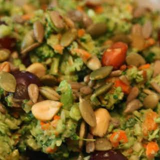 Broccoli Salad with Creamy Avocado Dressing.