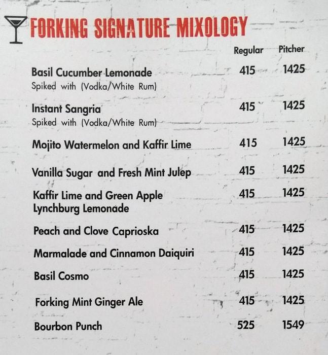 Fork You menu 5