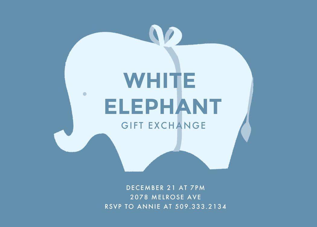 White Elephant - Christmas Card Template