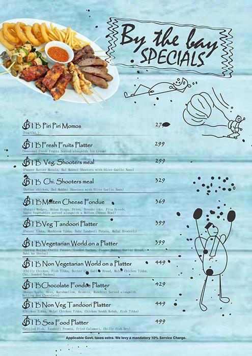 By the BAY menu 8