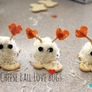 Valentine's Day Mini Cheese Ball Love Bugs Snacks