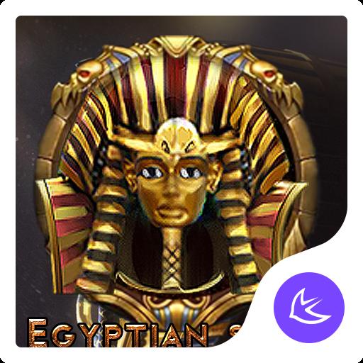 Egyptian gold mysterious scenery theme