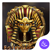 Egyptian gold mysterious scenery theme