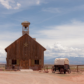 The Schoolhouse by Dominick Bianco - Buildings & Architecture Other Exteriors ( school, southwest, old west, wagons,  )