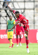 Mothobi Mvala focuses on the ball during a fixture against Free State Stars at Makhulong Stadium. The central midfielder  has shut all the doors to offers from big clubs.