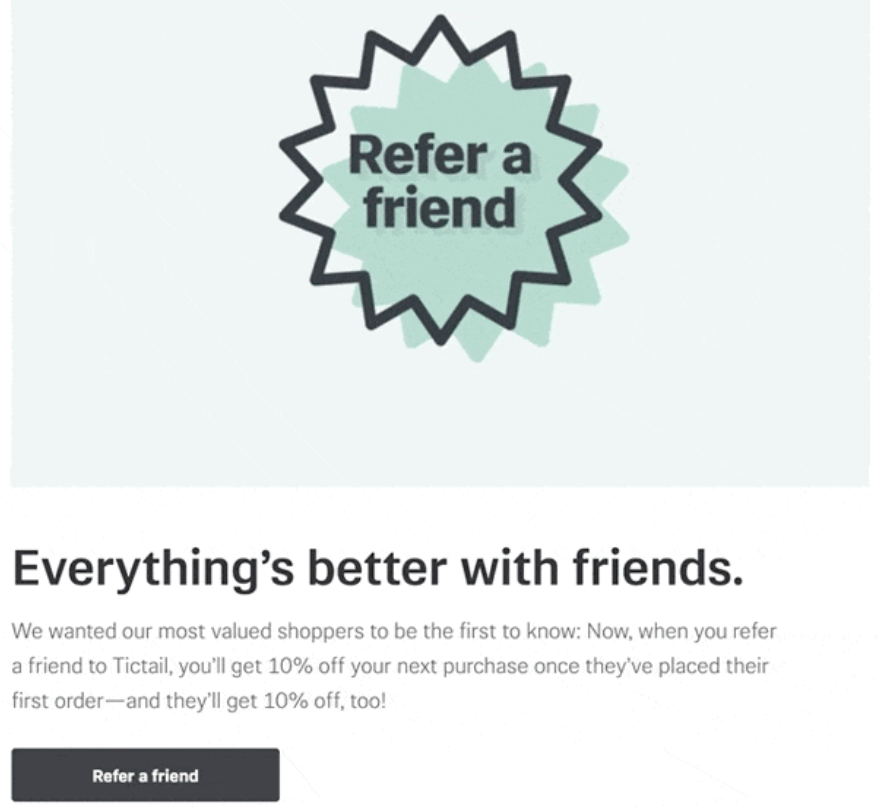 Tictail referral request