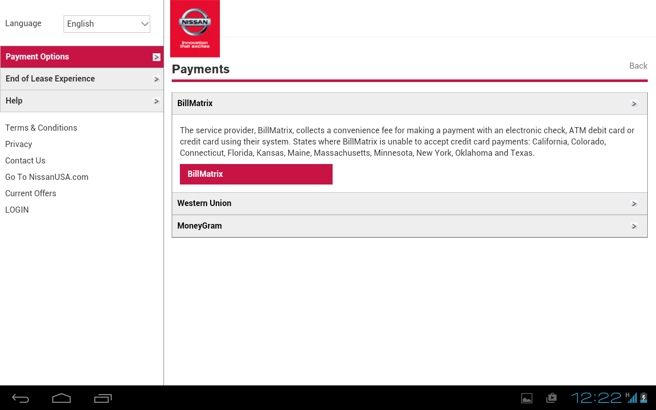 Nmac account manager android apps on google play for Nissan motor acceptance corporation payoff