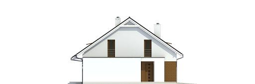 Głuszec z garażem 1-st. bliźniak A-BL2 - Elewacja lewa