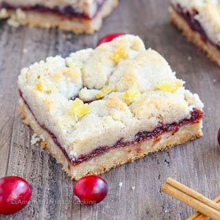 Cranberry Cinnamon Jam Bars
