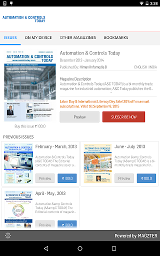 Automation Controls Today
