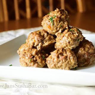Spicy Lamb and Bacon Meatballs.