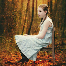Fairytale by Sandy Considine - Babies & Children Child Portraits ( braids, woodland, young girl )