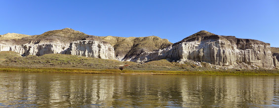 Photo: The start of the cliffs - a few miles into our trip.