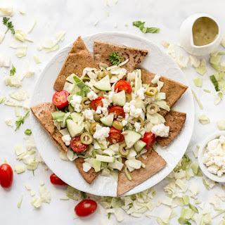Greek Salad Pita Nachos