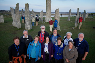 Photo: Stones of Calanais, Isle of Lewis, Outer Hebrides, Scotland, 23 May 2012. l to r: Suzan Alexander, Mike Alexander, Shifrah Nenner, Gavin Eadie, Kathy Wuster, Jeff Ogden, Liz Sweet, Andy Goodrich, Barbara Murphy, and Scott Gerstenberger. Photograph by Jim Richardson as a birthday gift to Kathy Wuster.