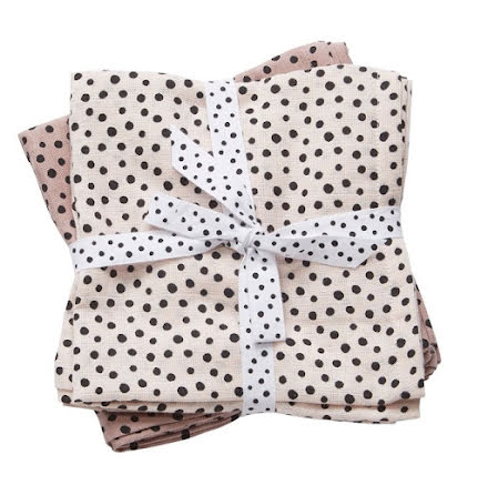 Done By Deer Swaddlefilt, Happy Dots, Powder 2-pack