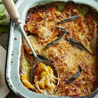 Squash, Fennel and Cheddar Gratin