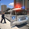 Police bus prison transport 3D icon