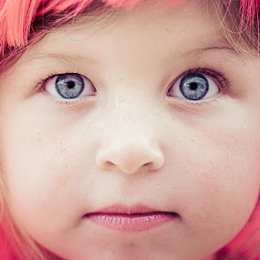 The Look by Marc Crowther - Babies & Children Child Portraits ( face, closeup, photography, up, close )