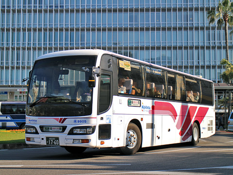 西鉄高速バス「フェニックス号」 9905 宮崎駅にて