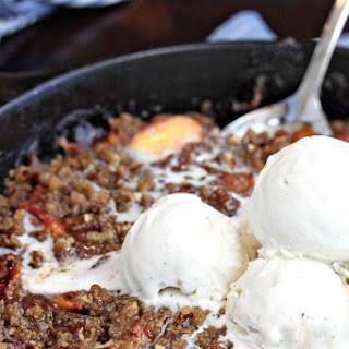 Brown Butter Skillet Peach Crisp