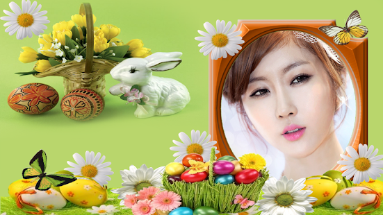 Beautiful bunny easter frames screenshot