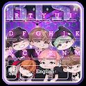 Glitter BTS Band Keyboard Theme icon