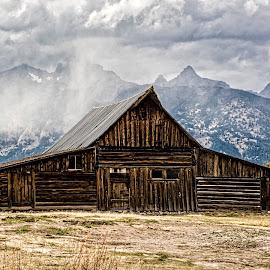 Mormon Barn by Richard Michael Lingo - Buildings & Architecture Public & Historical ( historic, mormon barn, grand teton, building, architecture )