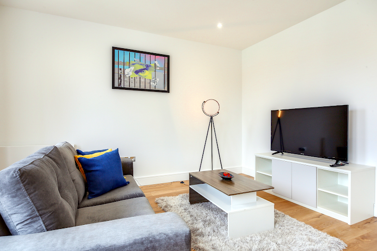 living space at Heathrow Central Apartments