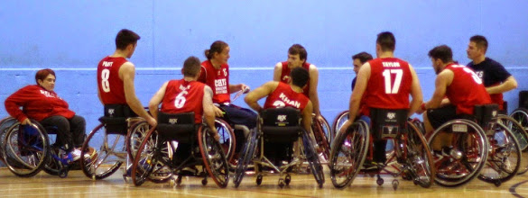 Photo: The CELTS  Time Out!    Photo taken during match between CELTS 1 and Blackhawks on 23 November 2014 at Talybont Sports Centre, Cardiff Uni