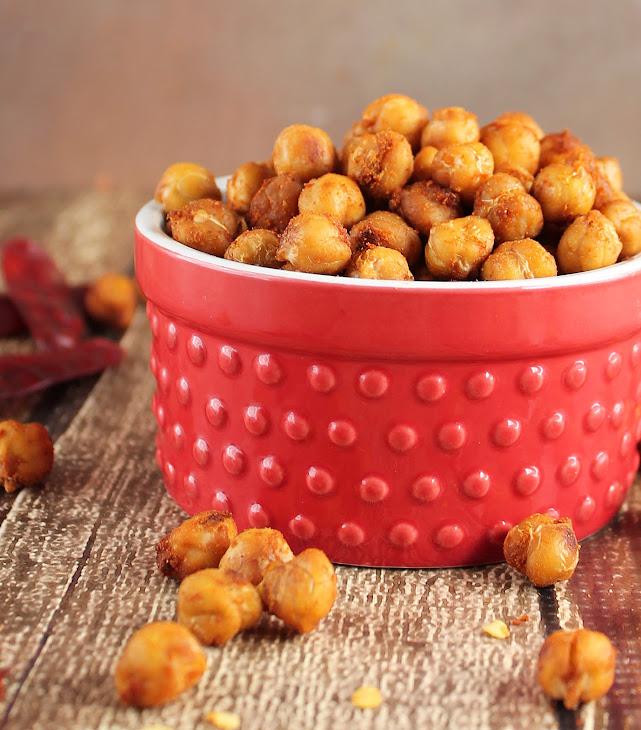 Crispy Spiced Chickpeas Recipe | Yummly