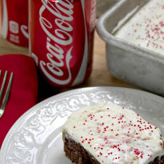 Vanilla Coke Poke Cake.