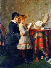 """Photo: Silvestro Lega, """"La lezione della nonna"""" (1880 – 1881)"""