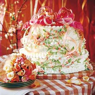 Peaches-and-Cream Wedding Cake.