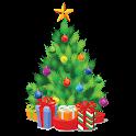 Christmas tree decoration icon