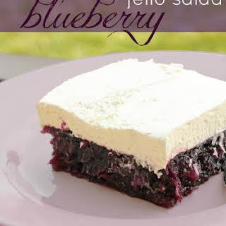 Blueberry Jell-O Salad.