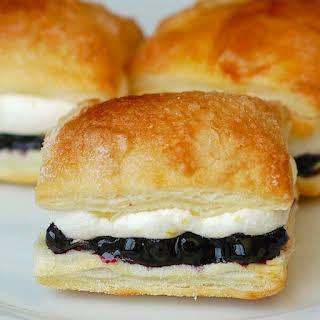 Blueberry Lemon Mini Puff Pastries.
