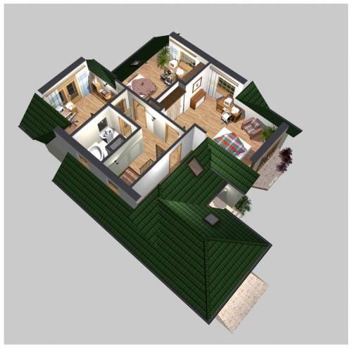 APS 130 - Rzut piętra 3D