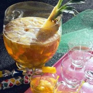 Ananas-Apfel-Bowle