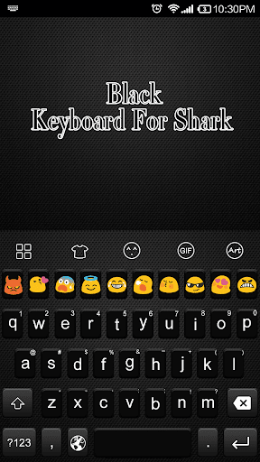 Black -Love Emoji Keyboard